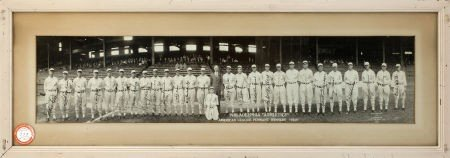 80022: 1929 Philadelphia Athletics Team Signed Panorami