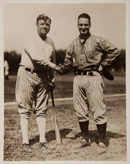 80023: Circa 1930 Babe Ruth Signed Oversized Photograph