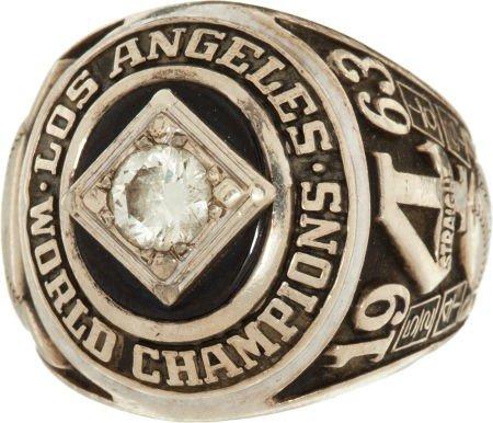 80089: 1963 Los Angeles Dodgers World Championship Ring