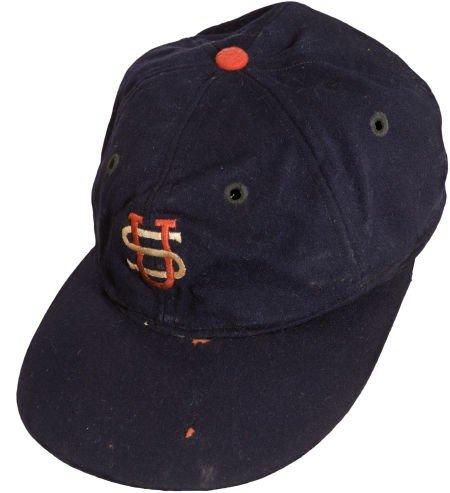 80006: 1934 Lou Gehrig Tour of Japan Game Worn Cap.