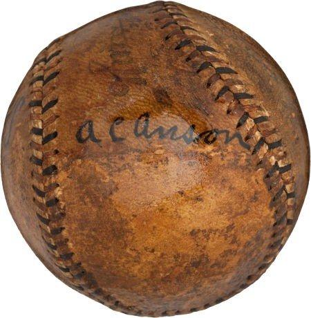 "80007: Circa 1900 Adrian ""Cap"" Anson Signed Baseball."