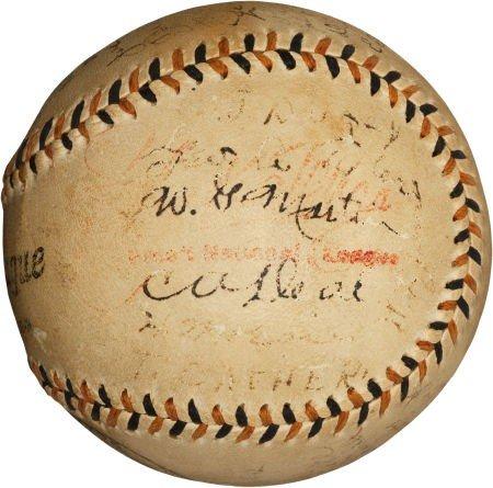 "80008: 1914 Boston ""Miracle Braves"" Team Signed Basebal"