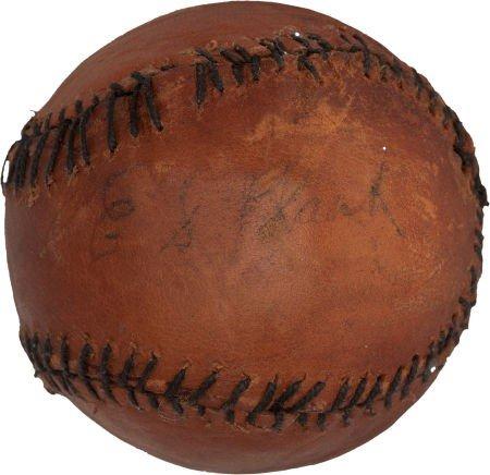 80009: Circa 1915 Eddie Plank Single Signed Baseball, O