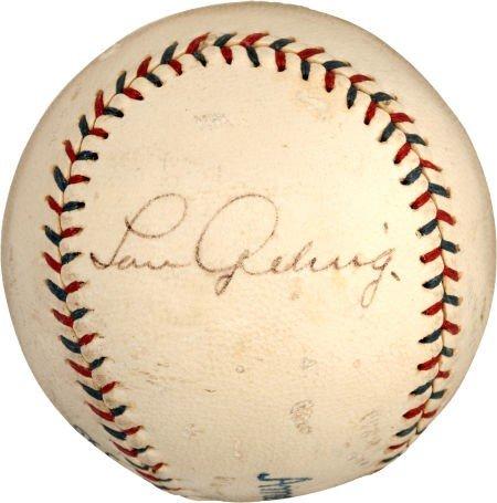 80010: Late 1920's Lou Gehrig Single Signed Baseball.