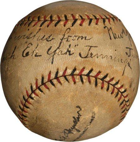 "80012: 1926 Hughie ""Eeh Yah"" Jennings Single Signed Bas"