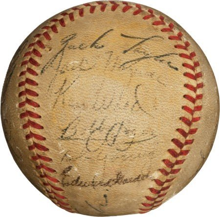 80014: 1951 St. Louis Browns Team Signed Baseball with
