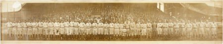 80019: 1911 Addie Joss Benefit Game Panoramic Photograp