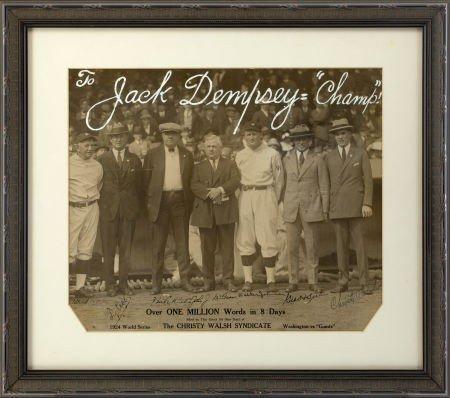 80020: 1924 Babe Ruth, Ty Cobb, John McGraw Signed Larg