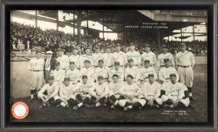 80021: 1925 Washington Senators Team Signed Panoramic P