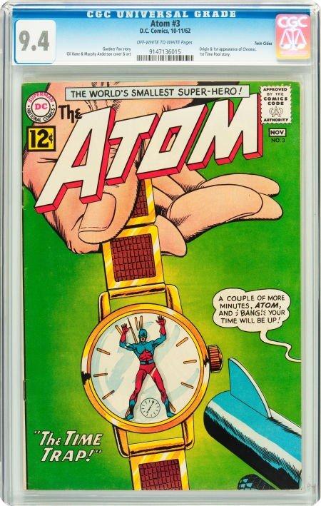 91002: The Atom #3 Twin Cities pedigree (DC, 1962) CGC