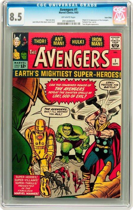 91003: The Avengers #1 Twin Cities pedigree (Marvel, 19