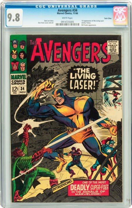91004: The Avengers #34 Twin Cities pedigree (Marvel, 1