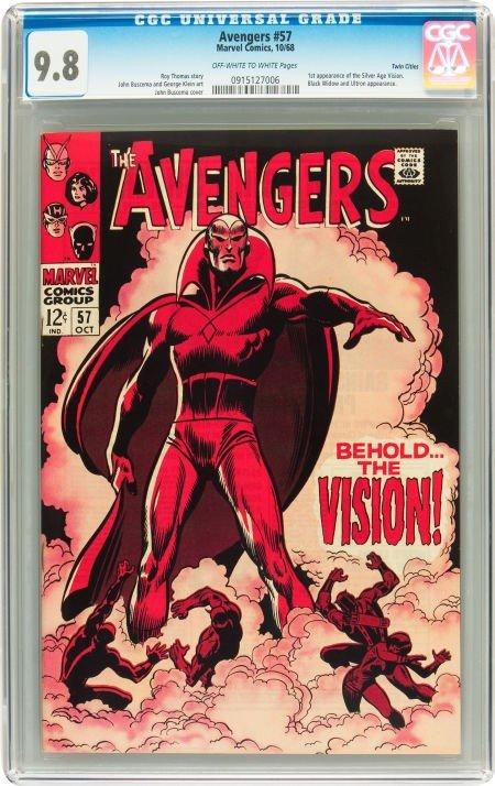 91005: The Avengers #57 Twin Cities pedigree (Marvel, 1