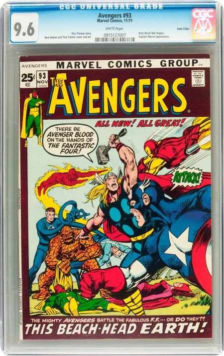 91006: The Avengers #93 Twin Cities pedigree (Marvel, 1
