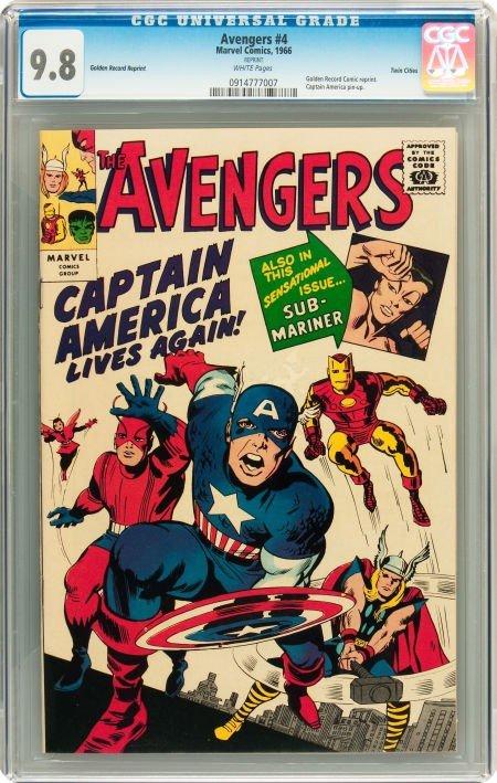 91007: The Avengers #4 Golden Record Reprint - Twin Cit