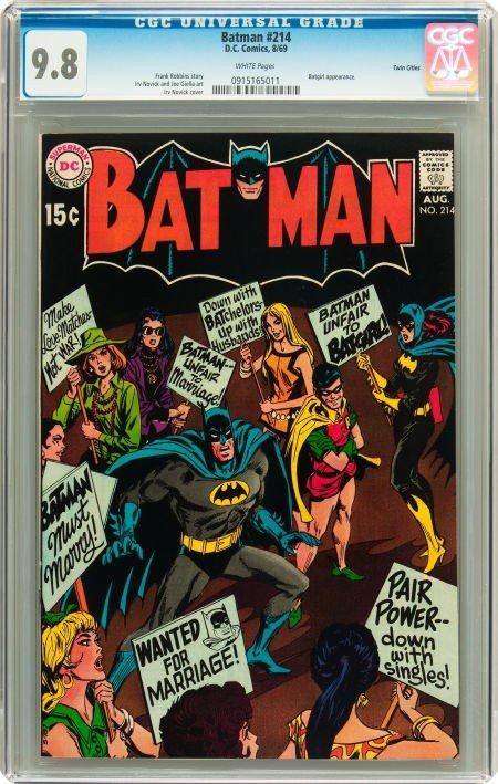 91011: Batman #214 Twin Cities pedigree (DC, 1969) CGC