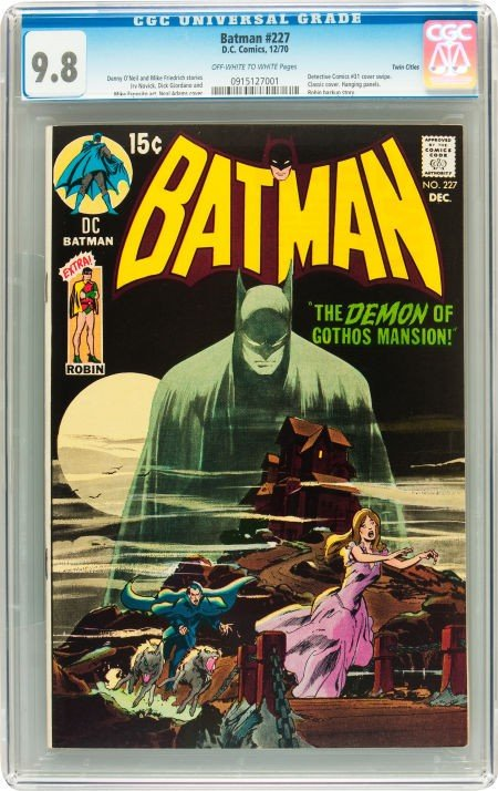 91012: Batman #227 Twin Cities pedigree (DC, 1970) CGC