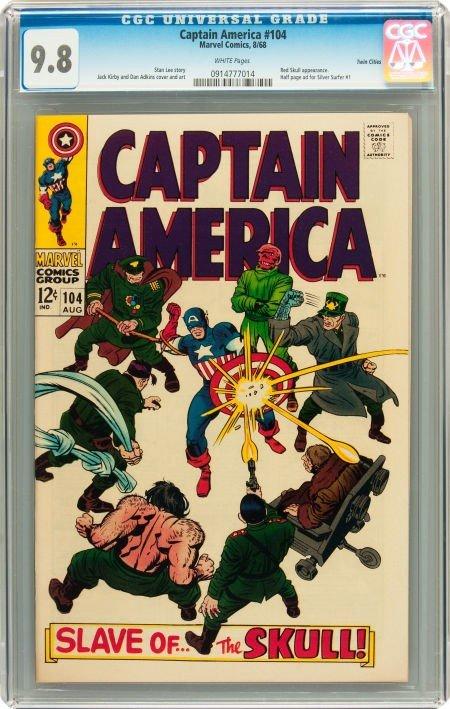 91015: Captain America #104 Twin Cities pedigree (Marve