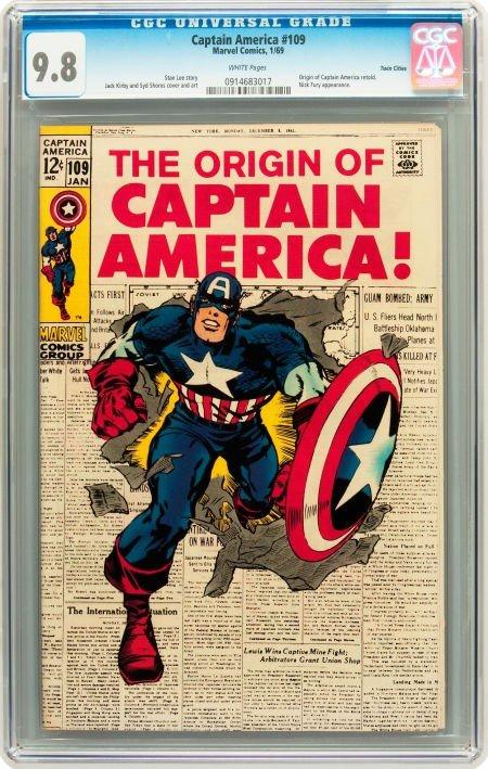 91016: Captain America #109 Twin Cities pedigree (Marve
