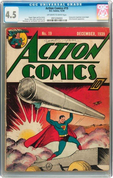 91231: Action Comics #19 (DC, 1939) CGC VG+ 4.5 Off-whi