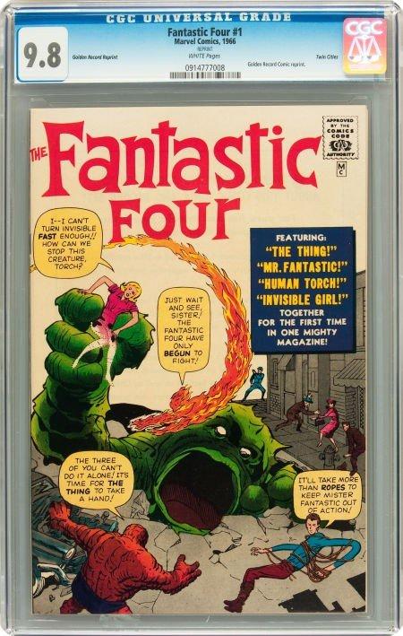 91017: Fantastic Four #1 Golden Record Reprint - Twin C