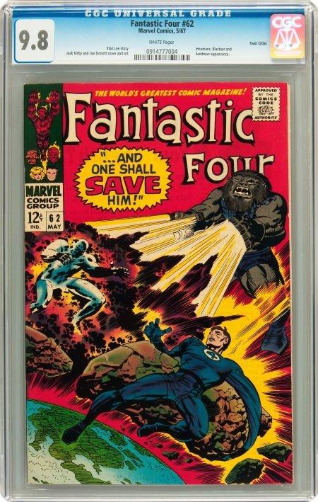 91018: Fantastic Four #62 Twin Cities pedigree (Marvel,