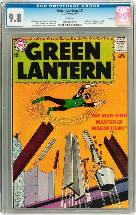 91021: Green Lantern #21 Twin Cities pedigree (DC, 1963