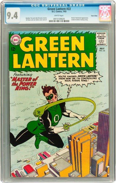 91022: Green Lantern #22 Twin Cities pedigree (DC, 1963