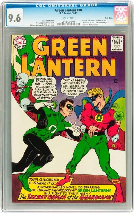 91024: Green Lantern #40 Twin Cities pedigree (DC, 1965