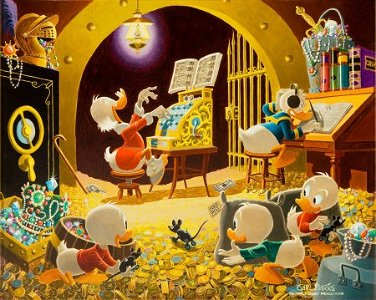 92002: Carl Barks Spoiling the Concert Oil Painting Ori