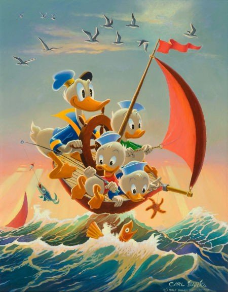 92004: Carl Barks Red Sails in the Sunset Donald Duck P