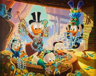Carl Barks Golden Cities of Cibola Painting Orig