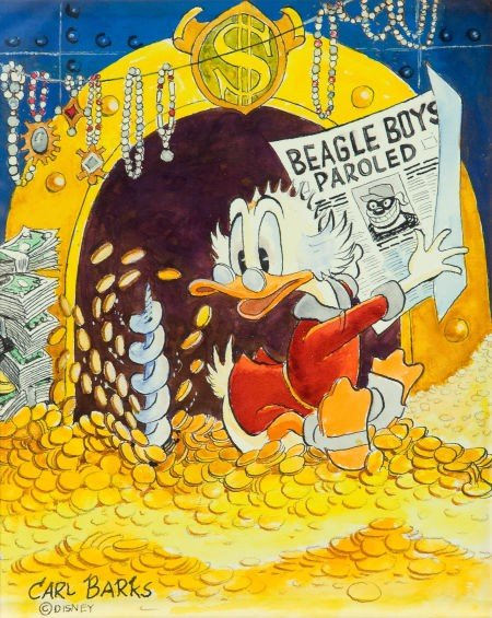 92007: Carl Barks Invasion of Privacy Uncle Scrooge Ill