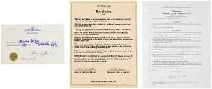 Carl Barks Signed City of Merrill Oregon Documen