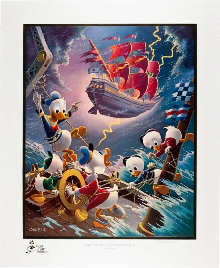 92019: Carl Barks Afoul of the Flying Dutchman Gold Pla