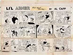 92065: Al Capp with Frank Frazetta L'il Abner Sunday Co