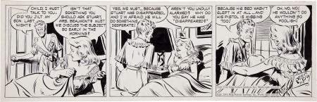 92206: Alex Raymond Rip Kirby Daily Comic Strip Origina