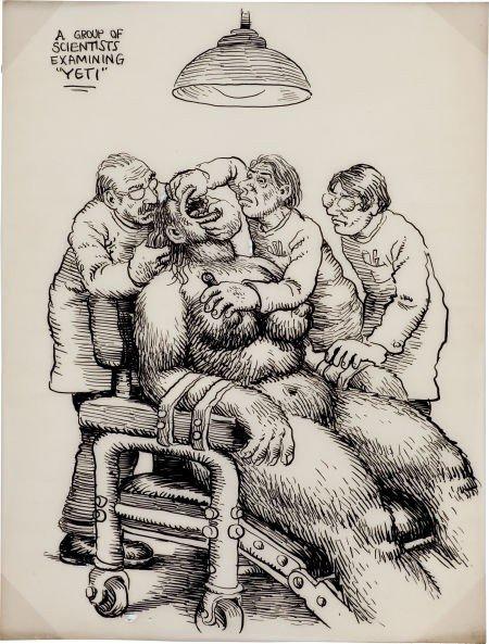 "92328: Robert Crumb Whiteman Meets Bigfoot ""Examination"
