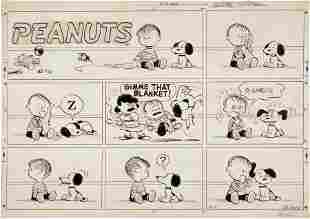 92240: Charles Schulz Peanuts Sunday Comic Strip Origin