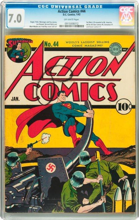 93200: Action Comics #44 (DC, 1942) CGC FN/VF 7.0 Off-w