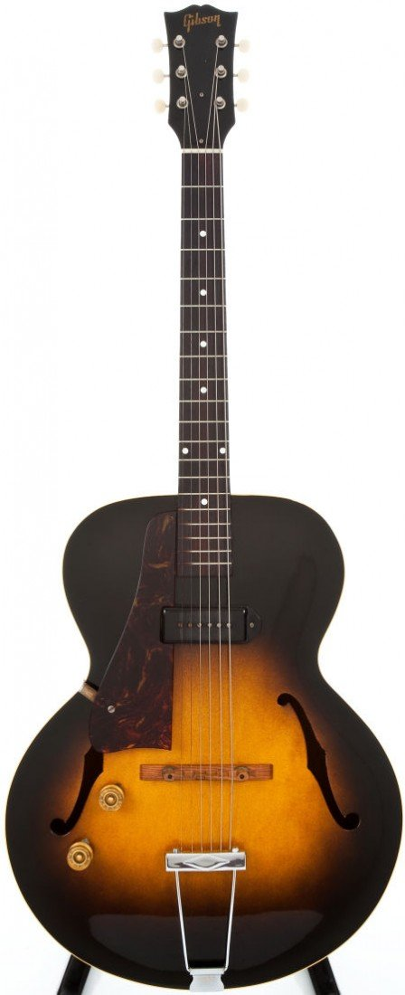 54087: 1952 Gibson ES-125 Left-Handed Sunburst Archtop