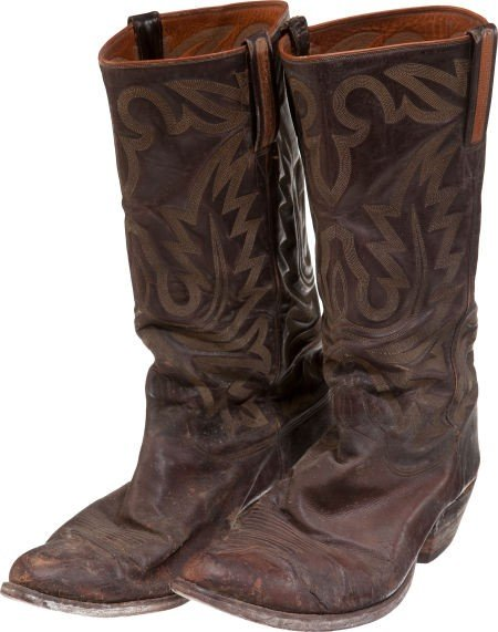 """44019: A Pair of Lucchese Cowboy Boots Likely from """"Tru"""