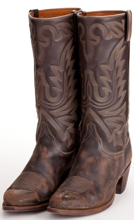 """44020: A Pair of Lucchese Cowboy Boots Likely from """"Tru"""