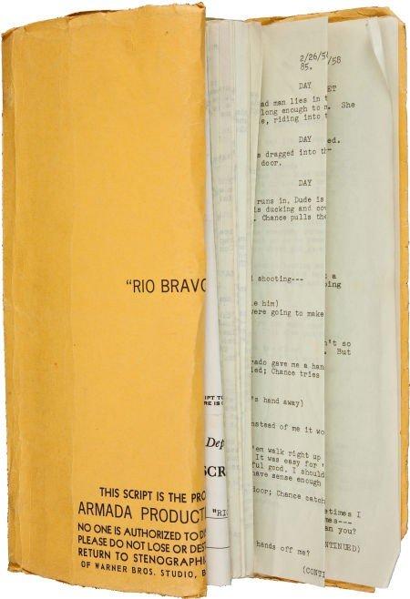"44082: A Working Script from ""Rio Bravo."""