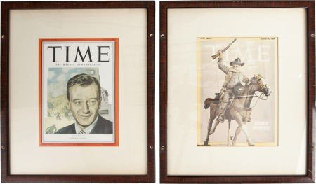 44541: Two Framed Time Magazine Covers, 1950s-1960s.