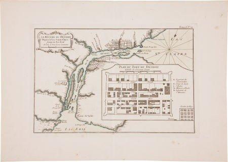 35006: Jacques Nicolas Bellin: La Riviere du Detroit De