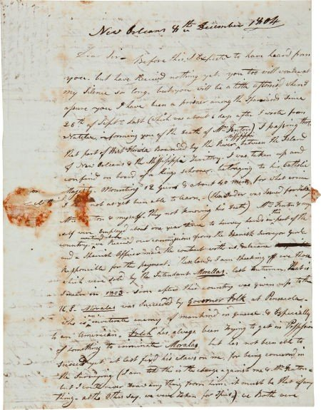 35007: [Louisiana Purchase] Important 1804 Letter Illus