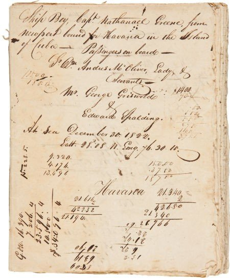 35009: Ship's Log Book for Ship Boy.