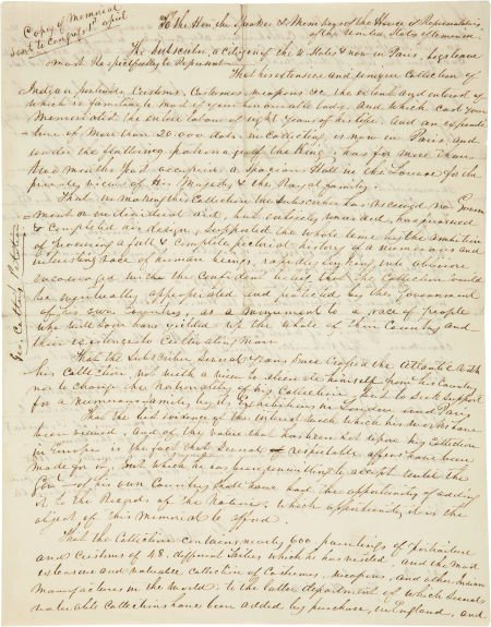 35013: George Catlin Autograph Letter Signed