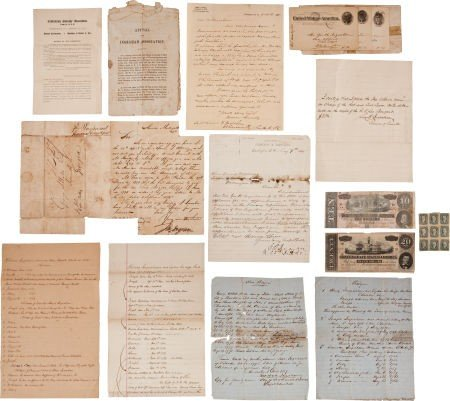 35018: Ingraham Family Archive Containing Confederate-
